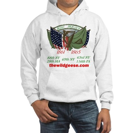 Irish Brigade (Battles- back) -Hooded Sweatshirt
