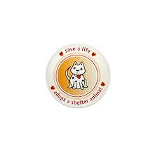 adopt mutt_white Mini Button