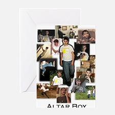 Collage - Altar Boy - by Miri - Larg Greeting Card