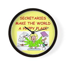 SECRETARY.png Wall Clock