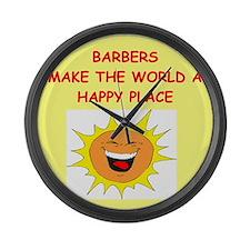 BARBER.png Large Wall Clock