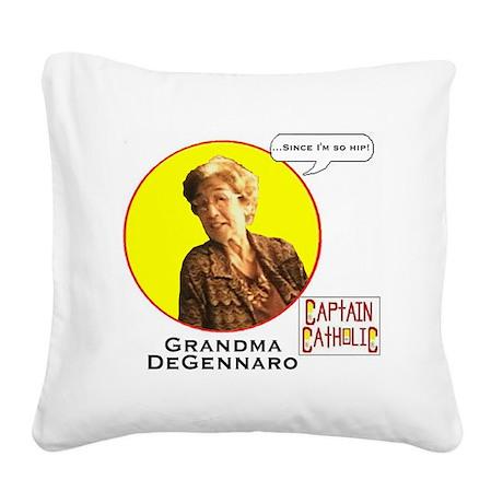 Grandma DeGennaro - Character Square Canvas Pillow