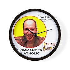 10-Commander Catholic - Character Spotl Wall Clock