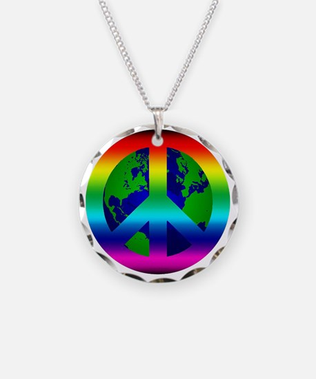 PeaceOnEarth Necklace Circle Charm