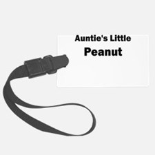 Aunties Little Peanut Black Luggage Tag
