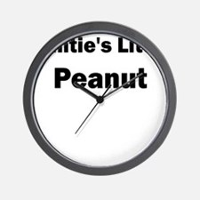 Aunties Little Peanut Black Wall Clock
