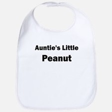 Aunties Little Peanut Black Bib