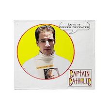3-Captain Catholic - Character Spotl Throw Blanket