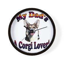 Dads a Corgi Lover Gimli Wall Clock