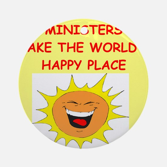 MINISTERS.png Ornament (Round)