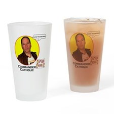 9-Commander Catholic - Character Sp Drinking Glass