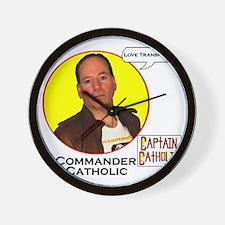 9-Commander Catholic - Character Spotli Wall Clock