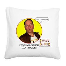 9-Commander Catholic - Charac Square Canvas Pillow