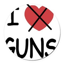 1_blank_hate_GUNS01 Round Car Magnet