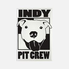 Indy Pit Crew Logo Rectangle Magnet