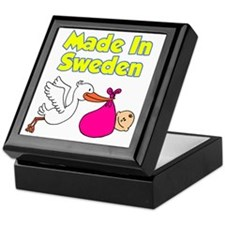 Made In Sweden Girl Keepsake Box