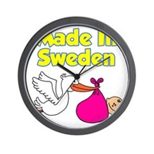 Made In Sweden Girl Wall Clock