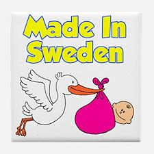 Made In Sweden Girl Tile Coaster