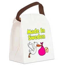Made In Sweden Girl Canvas Lunch Bag