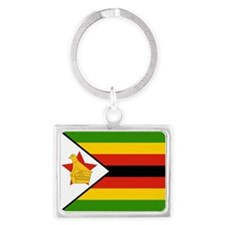 Flag of Zimbabwe Landscape Keychain