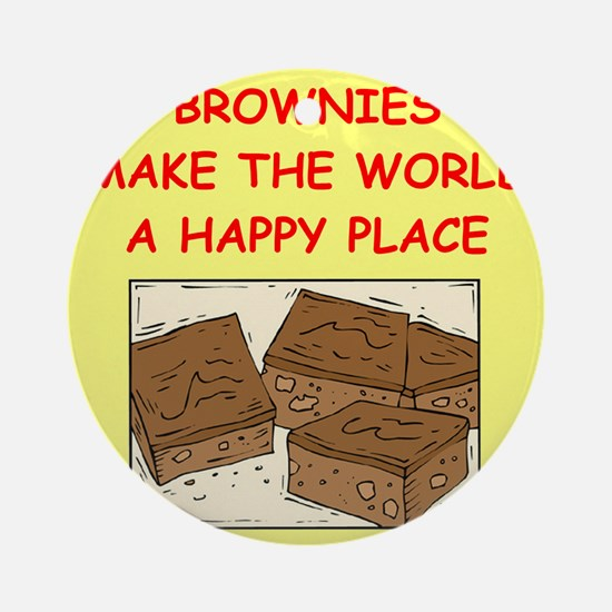 BROWNIES.png Ornament (Round)