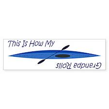 thisishowmygrandpsblue Bumper Sticker