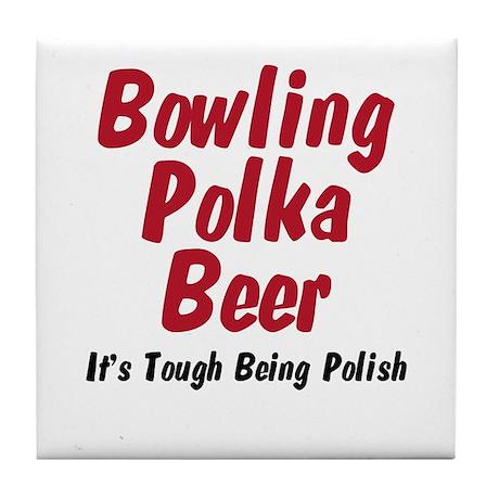 I'm Polish Tile Coaster