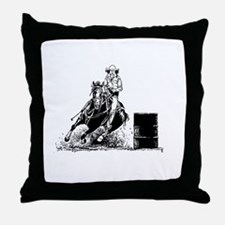 Barrel Racing Throw Pillow