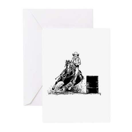 Barrel Racing Greeting Cards (Pk of 10)