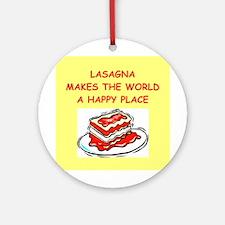 Lasagna.png (round) Round Ornament