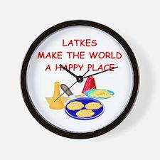 LATKES.png Wall Clock