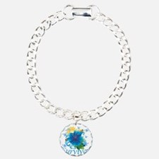 Survivor flower blue Bracelet