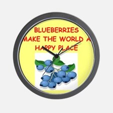 BLUEBERRIES.png Wall Clock