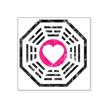 "Dharma Love 2 Square Sticker 3"" x 3"""