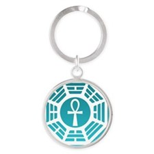 Dharma Ankh Tile Round Keychain