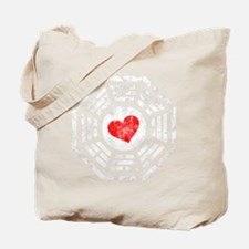 Red Heart -blk Tote Bag