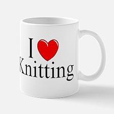 """I Love (Heart) Knitting"" Mug"