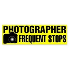Photographer Frequent Stops Bumper Bumper Sticker