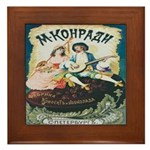 Russian Chocolate Vintage Ad Framed Tile
