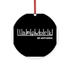 Lampwork - My Anti-Drug Ornament (Round)
