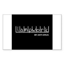 Lampwork - My Anti-Drug Rectangle Decal