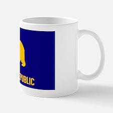 California Blue Yellow Bear oval Sticke Mug