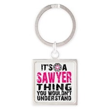 Sawyer Thing Square Keychain