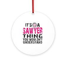 Sawyer Thing Round Ornament