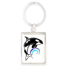 Orca-Darkblue Portrait Keychain