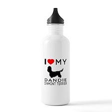 I Love My Dandie Dinmont Terrier Sports Water Bottle