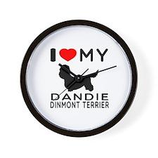I Love My Dandie Dinmont Terrier Wall Clock