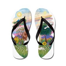 OvOrn-CloudAngel-Cavalier (Blenheim) Flip Flops
