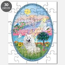 Angel Star - American Eskimo Dog Puzzle