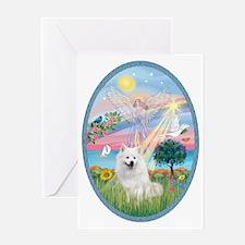 Angel Star - American Eskimo Dog Greeting Card